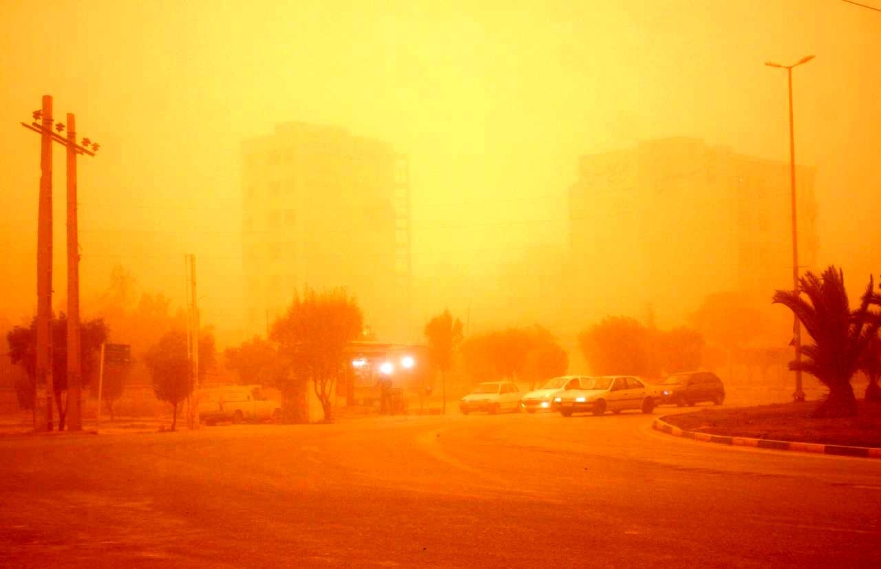 مناطق ساحلی خوزستان در تیررس توده گرد و خاک از جنوب عراق