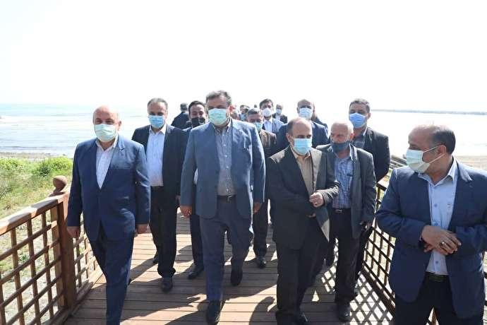 نخستین اسکله گردشگری دریایی مازندران افتتاح شد
