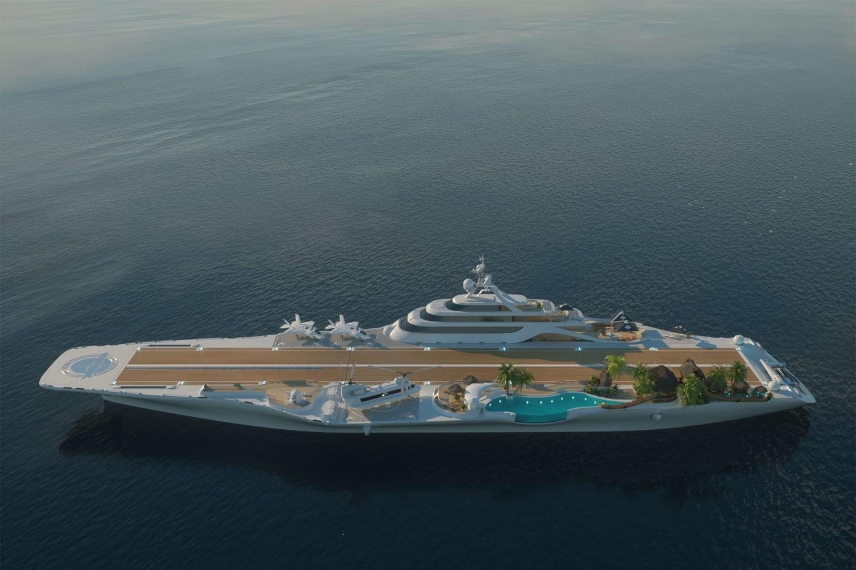 تبدیل یک ناو هواپیمابر به کشتی تفریحی برای نخستین بار در جهان