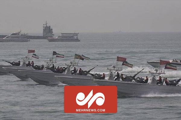 رهگیری قایقهای تندرو آمریکایی توسط نیروهای سپاه