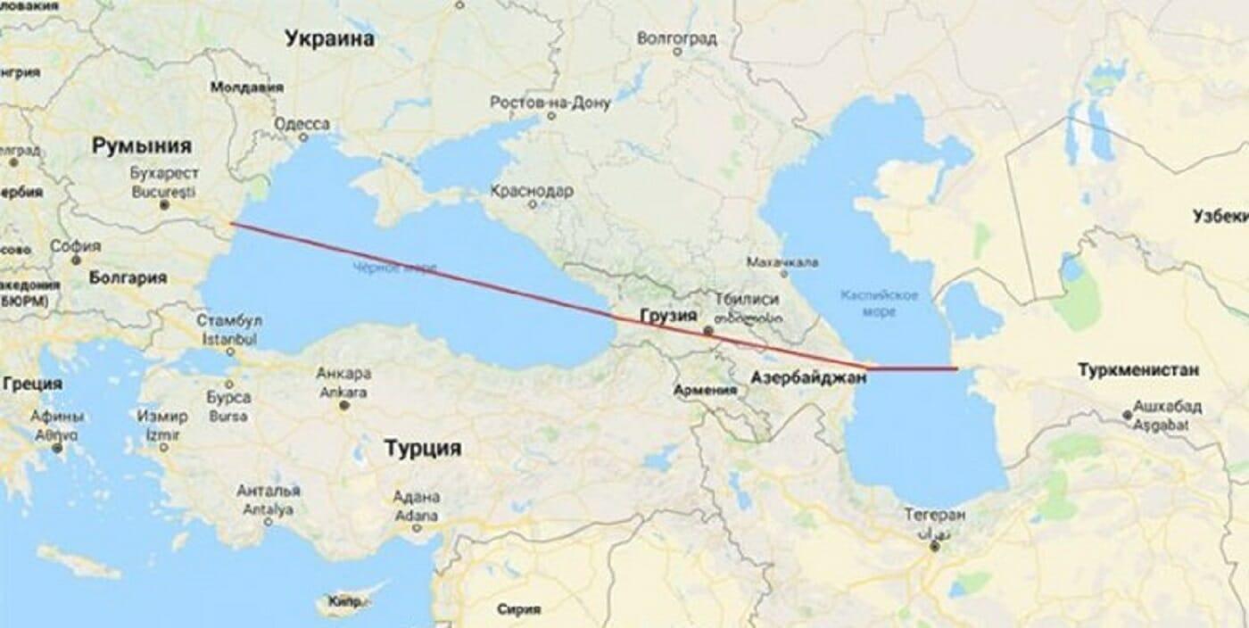 اتصال دریای کاسپین به دریای سیاه
