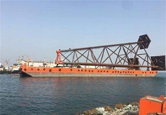 آخرین وضعیت توسعه فاز ۱۴ پارس جنوبی/ سازه ۵۱۰تنی به آب انداخته شد