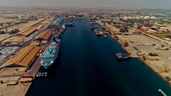 آب نگاری کانال دریانوردی بنادر شهید رجایی و خلیج فارس