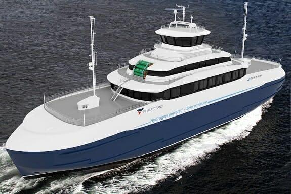 به آب انداخته شدن اولین کشتی با سوخت هیدروژنی