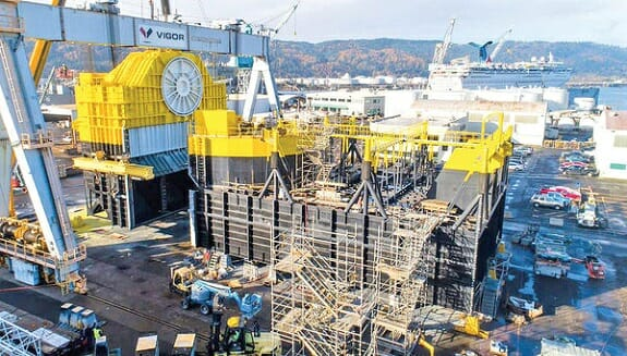 تولید انرژی موج تجدید پذیر دریایی در کشتی سازی پورتلند