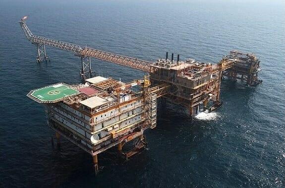 برداشت هزار و 500 میلیون فوت مکعب گاز  از سه سکوی فاز 14 پارس جنوبی