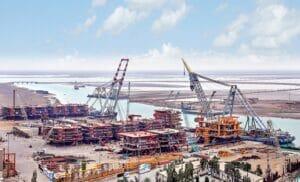 سکوهای گازی و نفتی شهرک صنعتی دریایی