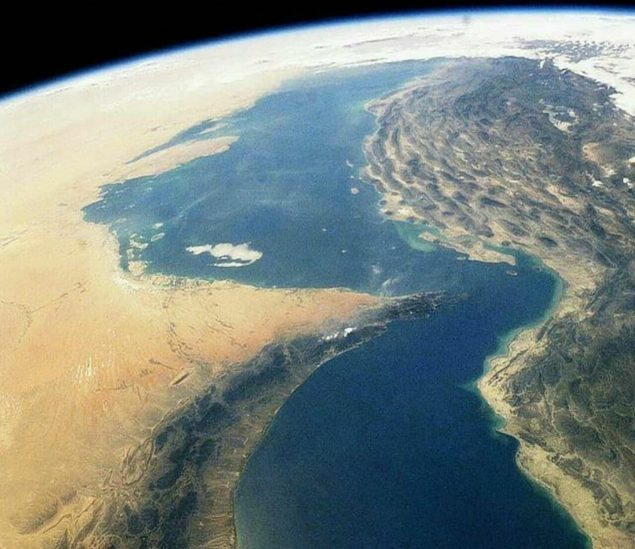 تصویر خلیج فارس از ایستگاه فضایی بین المللی