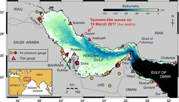 سونامی در خلیج فارس