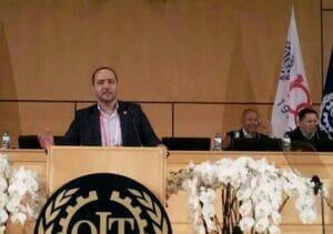 سامان رضایی نایب ریس و دبیر انجمن صنفی کارگری دریانوردان تجاری ایران