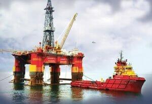سکوی دریایی نیمه شناور امیرکبیر و شناور کاسپین نفت خزر