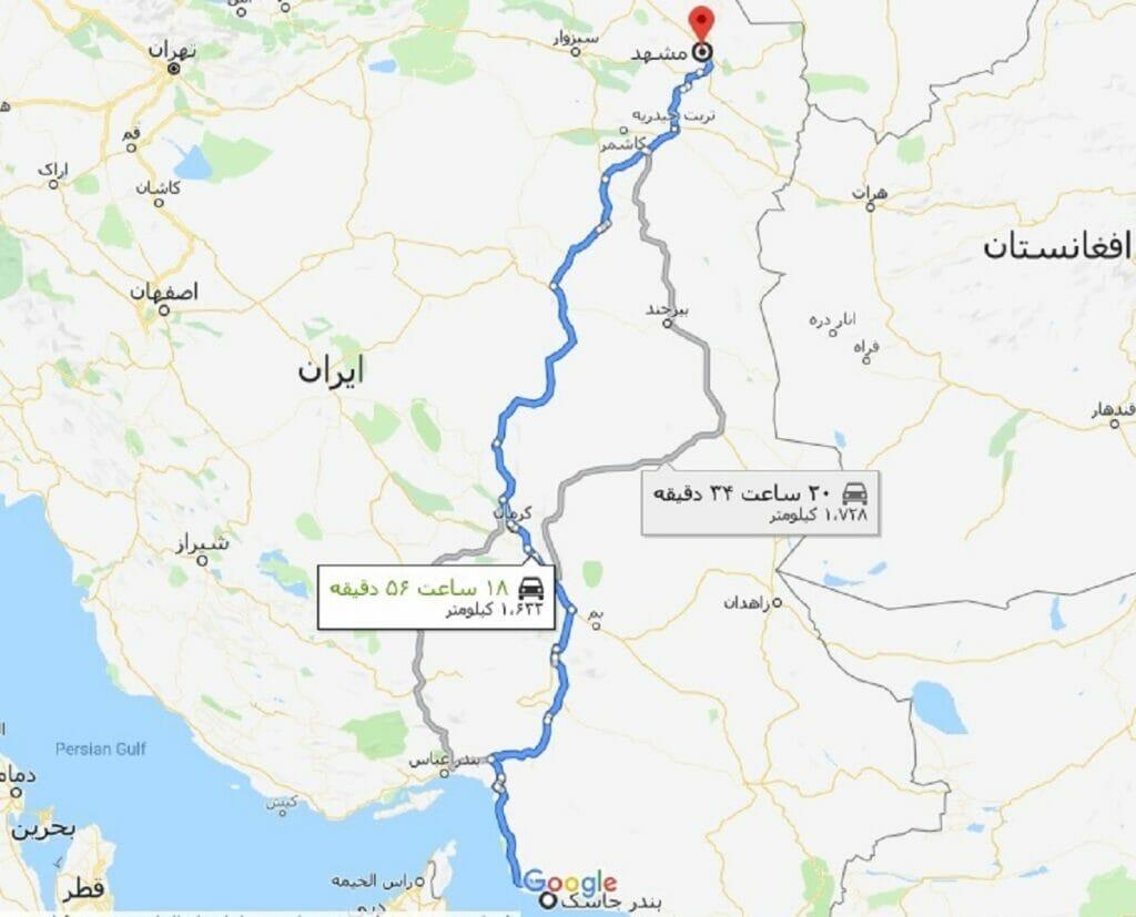 آزادراه-بندر-جاسک-مشهد