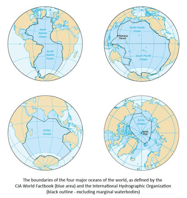 اقیانوسهای جهان کجا به هم میرسند؟