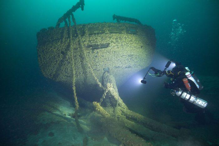 یافتن بقایای کشتی تاریخی غرق شده در دریاچه میشیگان در سال 1878