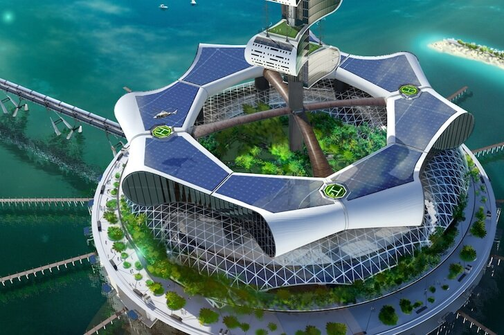 جزیرهای که انرژی تولید میکند