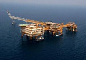 سکوهای دریایی پارس جنوبی شرکت نفت و گاز پارس