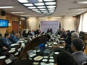 مراسم تودیع و معارفه مدیرعامل های جدید و قدیم شرکت نفت فلات قاره ایران