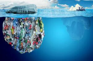 کوه زباله های دریایی و آلودگی دریایی محیط زیست دریایی