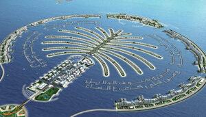 جزیرهی مصنوعی نخل جمیرا در امارات متحدهی عربی
