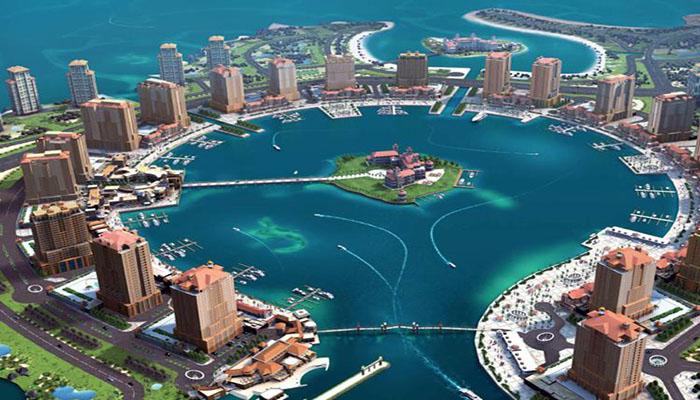 جزیره مصنوعی مروارید قطر- (Pearl Qatar)