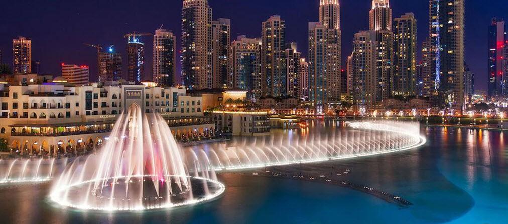 کانال و خور تفریحی آب شهر دوبی قابل قایقرانی و گردشگری شب