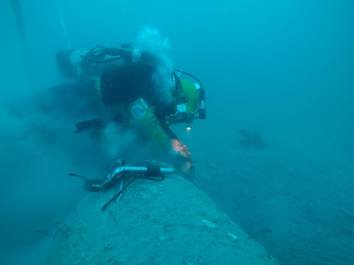 انجام موفقیت آمیز تعمیر خط لوله ابوذر در عمق ۵۰ متری دریا