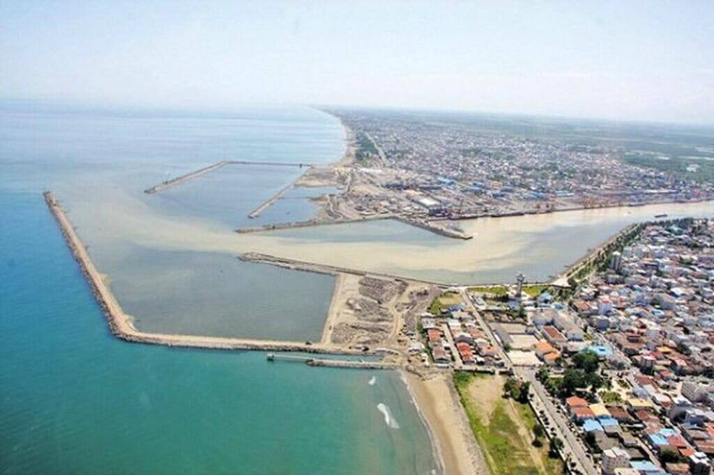 تصویر هوایی از بندر کاسپین