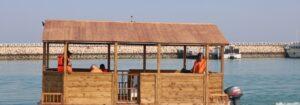 تست دریانوردی آلاچیق شناور با حضور نمایندگان صندوق توسعه صنایع دریایی در جزیره قشم