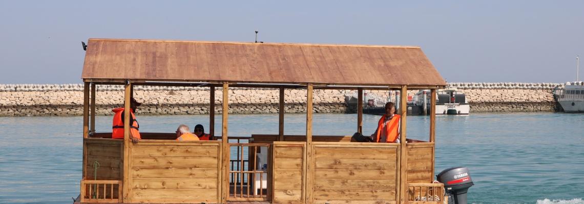 تست دریانوردی آلاچیق شناور در جزیره قشم