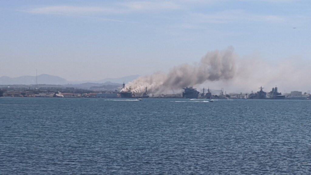 آتشسوزی در ناو هواپیمابر آمریکایی یو اس اس بونهوم ریچارد