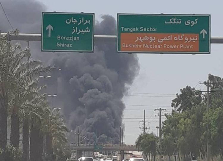 آتشسوزی در کارخانه شناورسازی در بوشهر
