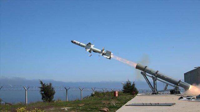 آزمایش موفقیت آمیز اولین موشک دریایی بومی ترکیه