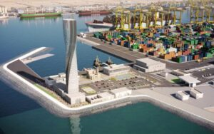 برج مراقبت بندر حمد قطر