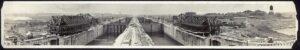 تصویر قدیمی مراحل ساخت سد سلولی کانال پاناما