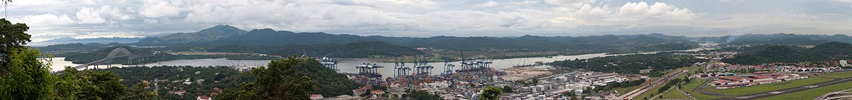 تصویر پاناروما از وضعیت فعلی کانال پاناما در بخش اقیانوس اطلس