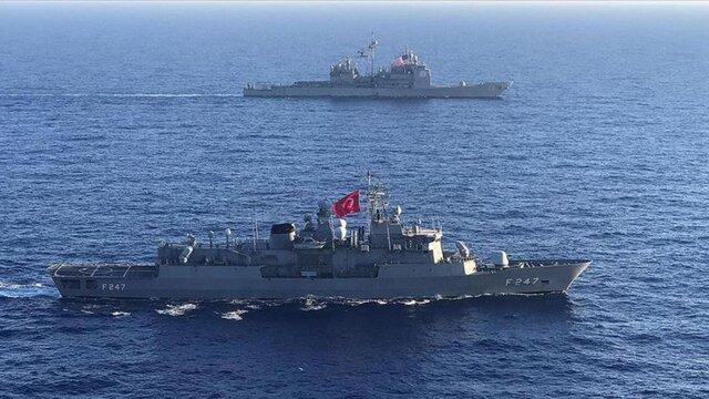 تمرینات دریایی مشترک ترکیه و آمریکا در مدیترانه