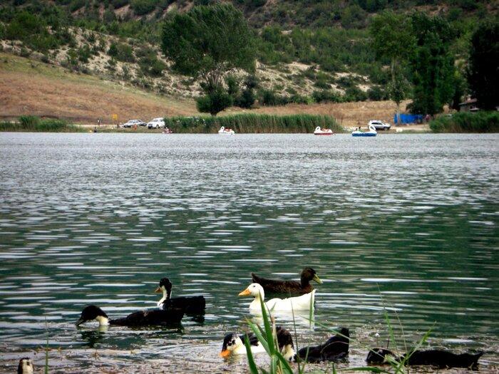 دریاچه ولشت در جاده چالوس در مسیر دریایی کاسپین