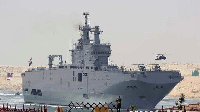 رزمایش دریایی مصر و فرانسه در مدیترانه