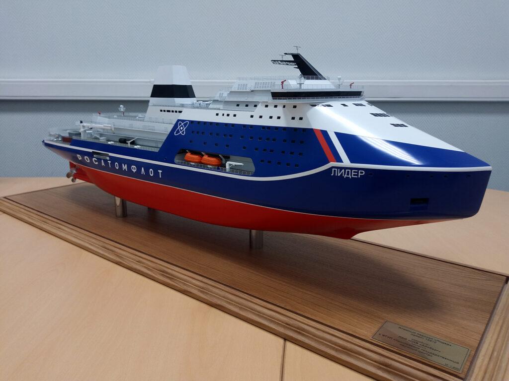ماکت بزرگترین کشتی اتمی یخ شکن جهان در روسیه