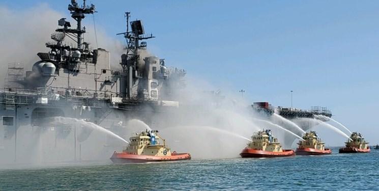 مهار آتشسوزی در ناو و کشتی جنگی یواساس بونهام ریچارد