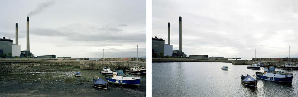 نمایش جزر و مد در بندر کوکنزی و پورت استون اسکاتلند