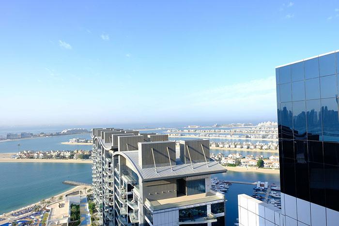 نمای جزیره نخل دبي از داخل هتلهای لوکس