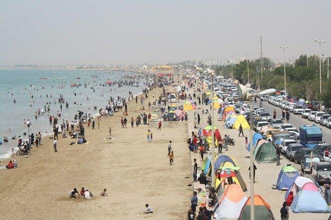 گردشگری در ساحل بندر گناوه