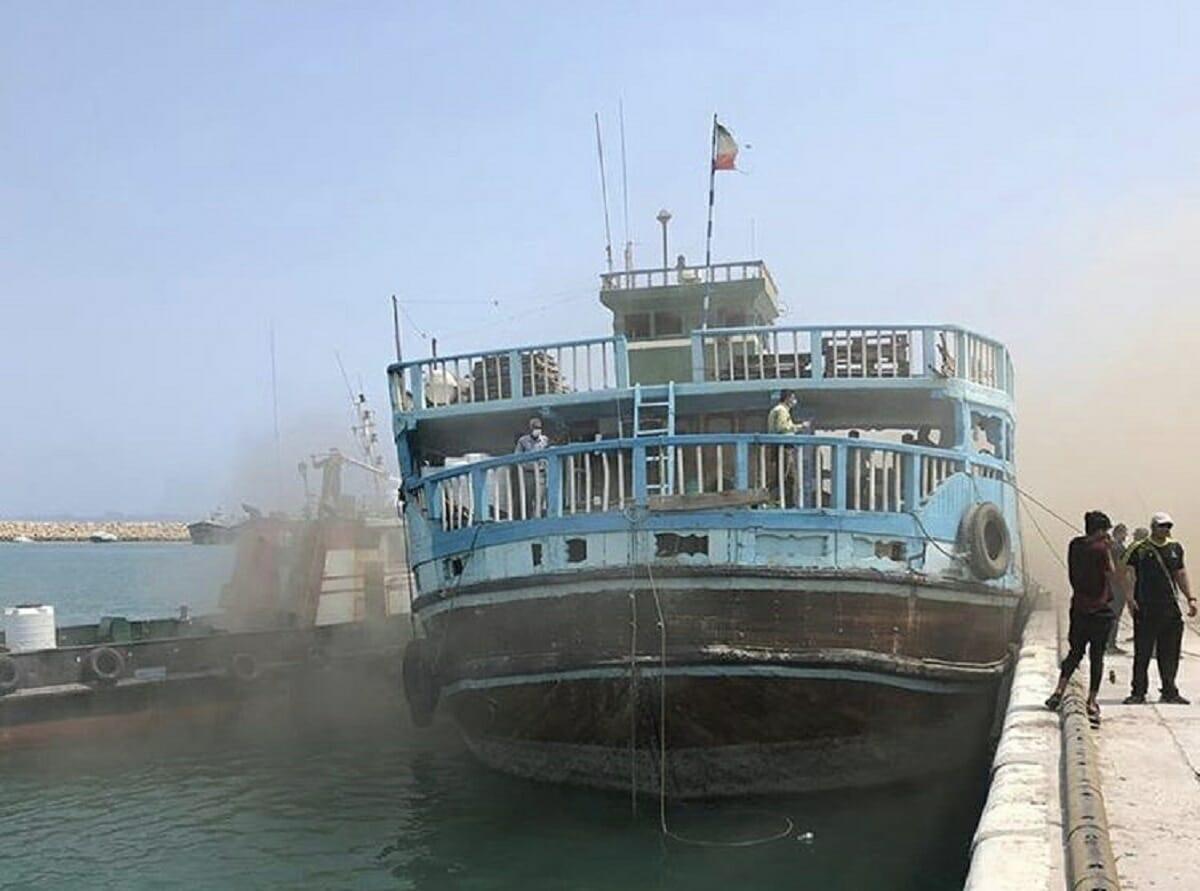نجات لنج باری توسط صياد ديری با قایق