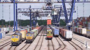 اتصال بندر به ریل راهآهن در اوکراین