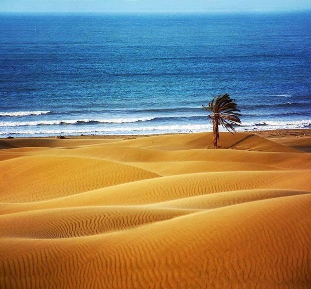 اتصال صحرا و دریا در روستای درک سواحل مکران