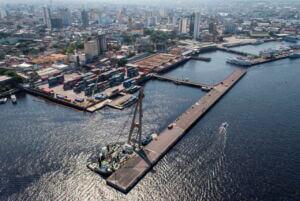بندر مانئوس برزیل - Manaus Port In Brazil