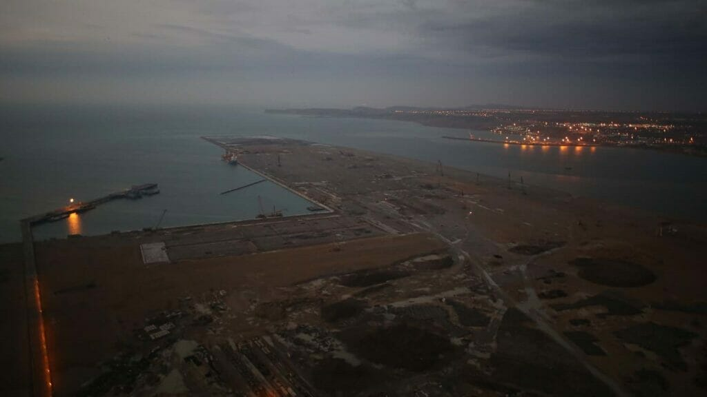 تصاویر هوایی از بندر شهید بهشتی چابهار