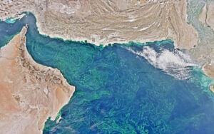 تصویر ماهوارهای از سواحل مکران و خلیجفارس و دریای عمان
