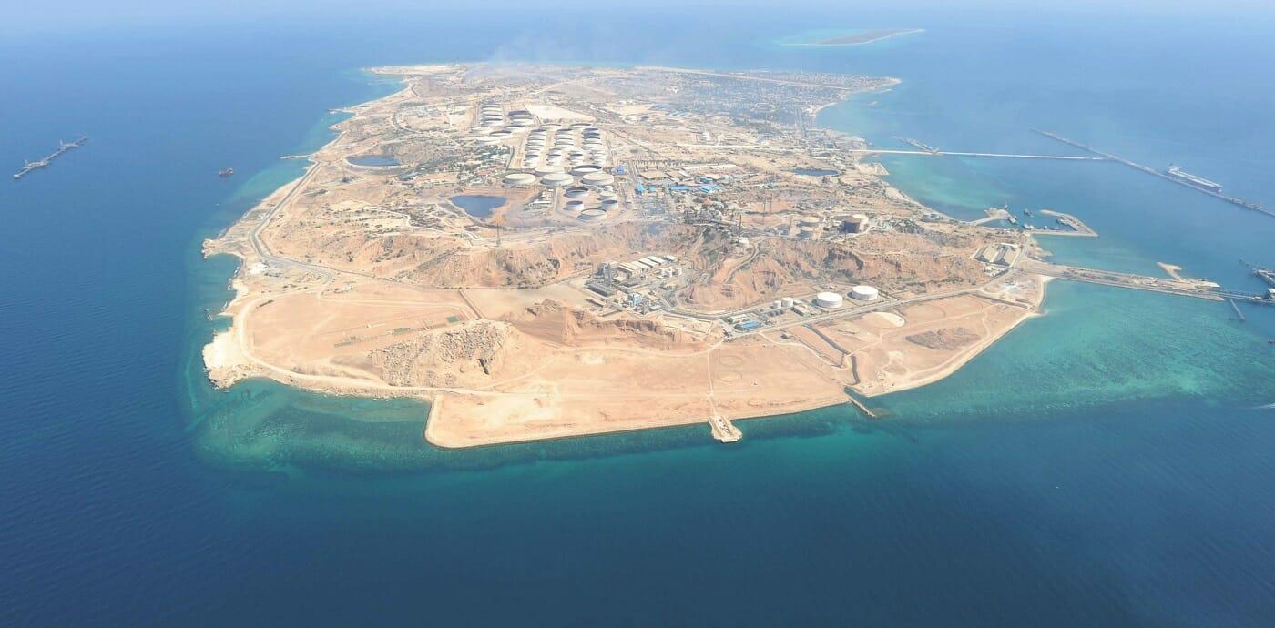 تصویر هوایی از جزیره خارک